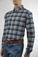 Ralph Lauren Custom Fit Blue,Green & White Plaid Long Sleeve Shirt/ Pony-NWT-XXL