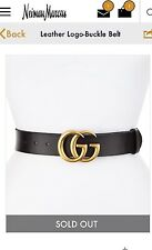 Gucci Marmont Black Leather Belt