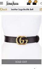 Gucci Marmont Black Leather Belt