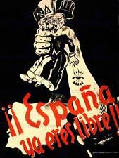 PROPAGANDA WAR SPANISH CIVIL FASCIST FALANGE NATIONALIST SPAIN POSTER BB6951B