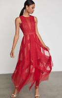 NEW BCBG MAX AZRIA Andi Lace Dress NEW RED 0468