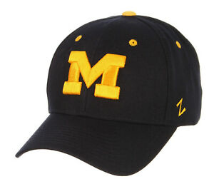 MICHIGAN WOLVERINES NAVY FITTED SIZED ZEPHYR DH CAP HAT NWT! CHOOSE YOUR SIZE