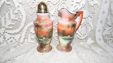 VINTAGE NORITAKE HANDPAINTED MADE IN JAPAN SUGAR SHAKER AND CREAMER SET