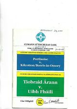 1989 GAA Hurling All Ireland u 21 final At Portlaoise Tipperary V Offaly