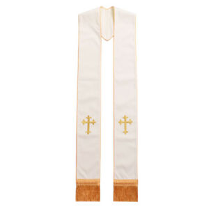 Blessume Church Priest Cross Embroidery Stole Ordained Clergy Stole Holy 4 Color