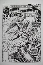 Org Production Art DC COMICS PRESENTS #11 cover, ROSS ANDRU, Superman, Hawkman