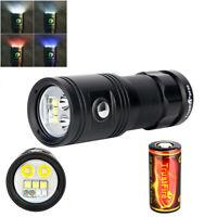 Trustfire DF30 Dive LED Light 2350LM Scuba Video Photo Torch 100M 32650 Battery