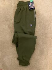 Champion Men's Powerblend Fleece Joggers Light Army Green Solid Color