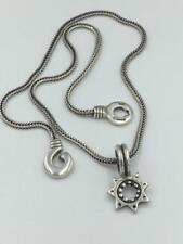 NWOT Lisa Jenks Sterling Silver Star Pendant on Foxtail Chain
