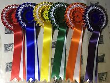 Luxurious 3-Tier Rosettes, Wide Tails, Set 1st-6th Horse, Dog