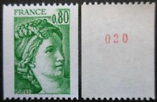 FRANCE-1978- N°1980a N°rouge au verso neuf ** luxe
