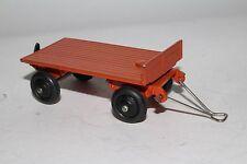 1940's Dinky Toys,  #25g Flatbed Trailer, Orange, Nice Original Lot #1