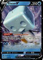 Pokemon TCG Card - Eiscue V 55/192 - Ultra Rare Holo - Rebel Clash - Mint NM
