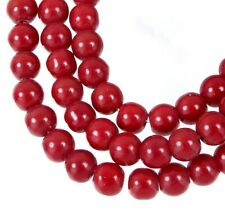 50 Opaque Red Glass Round / Rocaille Beads 6mm
