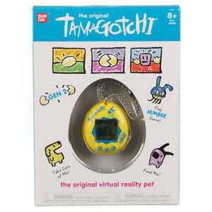 Bandai - Original Tamagotchi - Electronic Pet - Yellow Blue Design