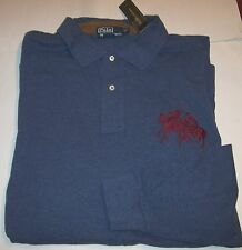 New RALPH LAUREN POLO long sleeve mesh shirt Dual Match blue 2XLT Big Pony $155