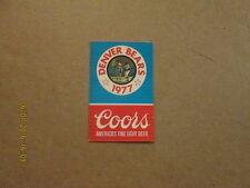 Denver Bears Vintage Defunct Circa 1977 Pocket Schedule