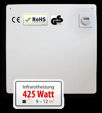 Infrarotheizung Wandheizung Heizung Heizpaneel Timer, LCD Display 425 Watt