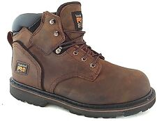 "Timberland PRO 33034 Pit Boss Steel Toe Men's Work Boots 6"" Brown Size 7.5"