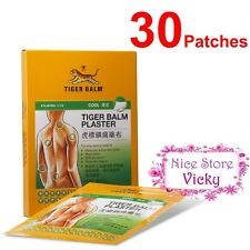 Tiger Balm Plaster Patch - COOL - 30 Patches 10cm x 14cm for Muscle Pain (New! )
