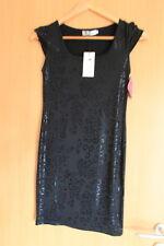 Sexy kurzes,enges Kleid schwarzes Leopardenmuster Größe S, perfekt für Silvester