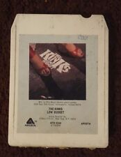 The Kinks Low Budget Rare AT8 4240 S 133554 Arista Records Stereo 8 Track Tape