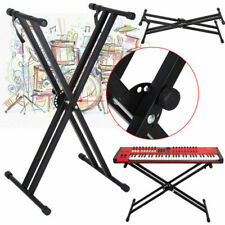 More details for electronic piano double x stand music keyboard standard rack adjustables height
