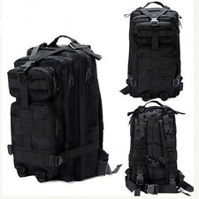 Every Day Carry Tactical Assault Bag Pack Backpack Rucksack Molle Black Camping