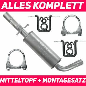 Mittelschalldämpfer Mitteltopf Auspuff VW Golf 4 IV 1.8 T 2.0 2.3 Schrägheck