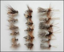 Sedge Trout flies, 18 Pack Deer, Elk & G & H Sedge, Mixed Size, For Fly Fishing