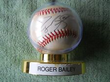 ROGER BAILEY AUTOGRAPHED SIGNED BASEBALL Colorado Rockies Pitcher