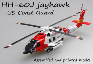 1/72 US Coast Guard HH-60J MH-60 Jayhawk Helicopter Diecast Plane Easy Model Hot