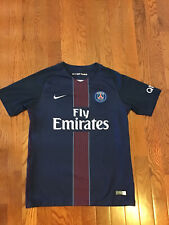 Used Nike Psg Paris Saint - Germain Soccer Jersey Youth L Large