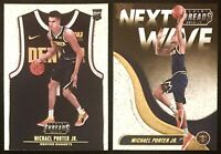 MICHAEL PORTER JR. 2-Card ROOKIE Lot: 2018-19 Panini Threads (Both are DAZZLE!)