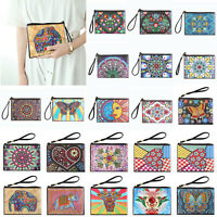 DIY Elephant Special Shaped Diamond Painting Purse Bag Wristlet Wallet Xmas Gift