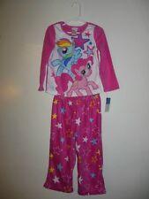 NWT Girls My Little Pony Lightweight Fleece 2 Piece PJs XSmall 4 Pony and Star P
