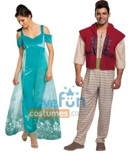 Couples Adult Costumes Aladdin and Jasmine Disney Halloween Mens Womens