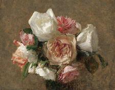 Latour Fantin Henri Vase Of Roses Print 11 x 14    #3805