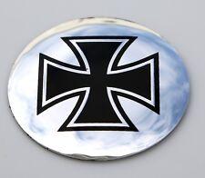 "DOME SHAPE 3D Metal Maltese Cross Sticker Decal Emblem Auto 2.2"""