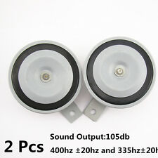 2 Pcs Gray Hood Grille Mount 105db Super Tone Loud 12V Compact Horn For Suzuki