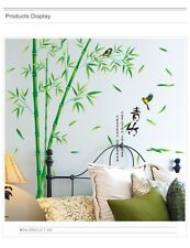 Bamboo Wall Stickers Mural Art 3D Decals Wallpaper Decor Living Room Study Room