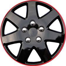"1 Piece 15"" Inch Ice Black Hub Caps Full Lug Skin Rim Cover for OEM Steel Wheels"