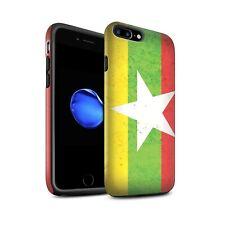 Matte Zähen Hülle für Apple iPhone 8 Plus/Myanmar/Burma/Asien Flagge