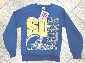 Large NEW VINTAGE 90s NFL San Diego Chargers Crewneck Sweatshirt VTG 1990's