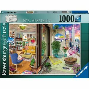 """Ravensburger """"NYC Apartment"""" 1000 Piece Jigsaw Puzzle  27"""" x 20"""" NEW/SEALED"""