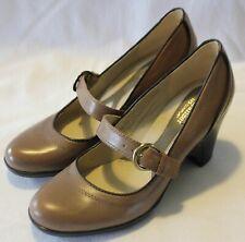 e32620bfbe NATURALIZER COMFORT ~ Tan & Chocolate Leather Mary Jane Block Heels EU 40  ...