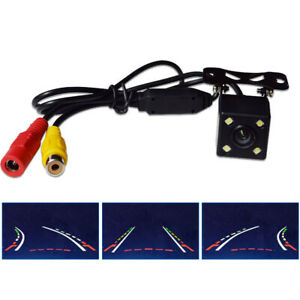 4LED IR Night Vision Car Rear View Wide Angle Dynamic Trajectory Camera 12V Kit