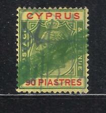 CYPRUS KGV 1924 SG 117 90pi USED AS REVENUE FISCAL DUTY STAMP IN FINE CONDITION