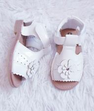 KIDS BABY GIRLS SATIN WEDDING BRIDESMAID PARTY SANDALS SHOES INFANTS SIZE 3-7
