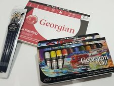 Daler Rowney Oil Painting Bundle. Paints, Brushes and A4 Art Boards